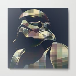 Star War | Storm Trooper Color Square * Movies Inspiration Metal Print