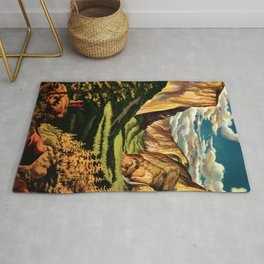 Yosemite National Park - Vintage Travel Rug