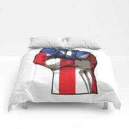 Puerto Rico Fist   Proud Boricua Flag Comforters