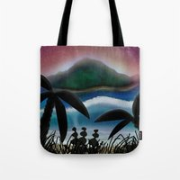 paradise Tote Bags featuring Paradise by ShaylahLeigh