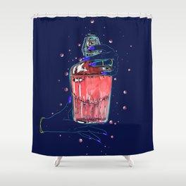 Bad Brew Pink Jinx Shower Curtain