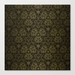 Sound waves in gold Canvas Print
