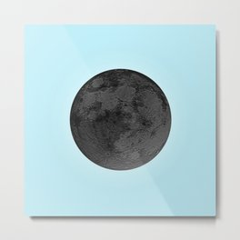 BLACK MOON + BLUE SKY Metal Print