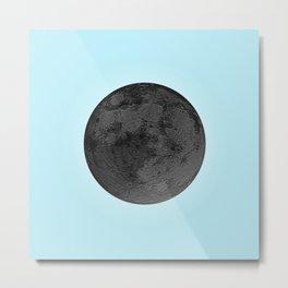 BLACK MOON + BLUE SKY Metal Print