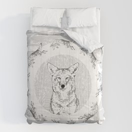 Pack of Coyotes Comforters