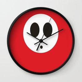 SHY GUY (RED) Wall Clock