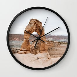 Early Morning at Delicate Arch Wall Clock