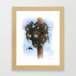 Urban Monk Parrot Nest Framed Art Print