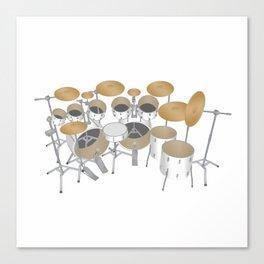 White Drum Kit Canvas Print