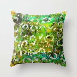 The Spackle - Original Mixed Media Painting Throw Pillow