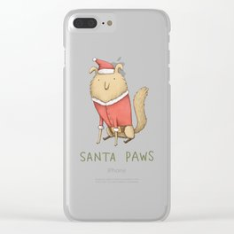 Santa Paws Clear iPhone Case