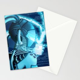 Plugged In/ Blue Stationery Cards