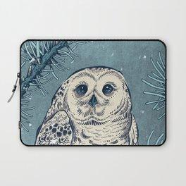 Winter Snowy Owl Laptop Sleeve