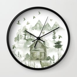 Living Off The Grid Wall Clock