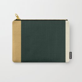 A remarkable impression of Bronze (Metallic), Champagne, Dark Jungle Green and Earth Yellow vertical stripes. Carry-All Pouch