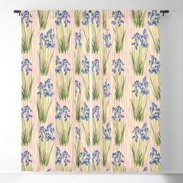 Bluebell Meadow Blackout Curtain
