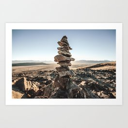 Stacked rocks Art Print