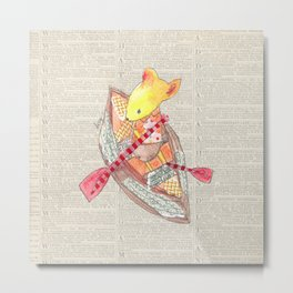 Mouse Up Paper Creek Metal Print