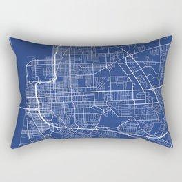 Baton Rouge Map, USA - Blue Rectangular Pillow