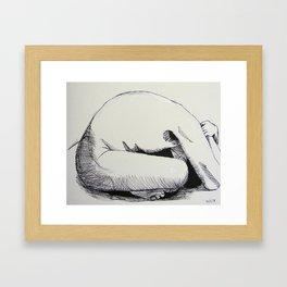 Nude Sketch Framed Art Print