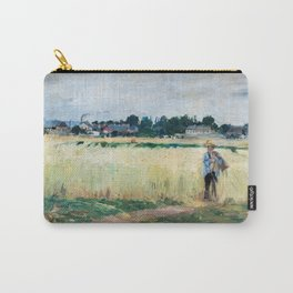 Berthe Morisot - In the Wheatfield at Gennevilliers Carry-All Pouch