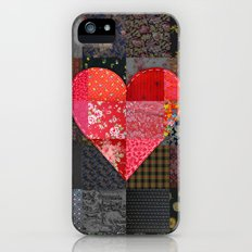 Patched Heart Slim Case iPhone (5, 5s)