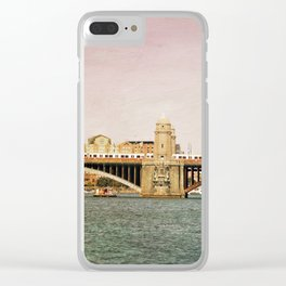 Red Line Clear iPhone Case