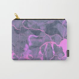 Grey and Pink Marble Carry-All Pouch