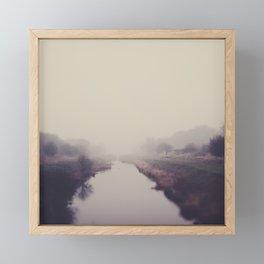 true beauty is a foggy landscape in the English Fens. Framed Mini Art Print