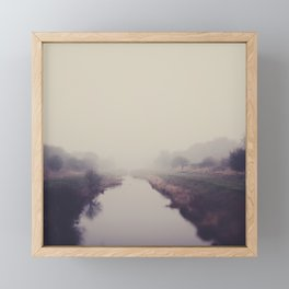 true beauty is a foggy landscape in the English Fens. Framed Mini Art Print