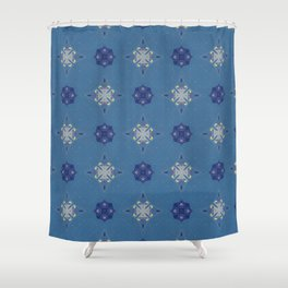 Lahaina blue sparks pattern Shower Curtain