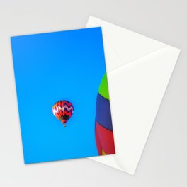 Flying Away hot air balloons Stationery Cards