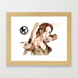 Mockingjay. Katniss Everdeen. Framed Art Print