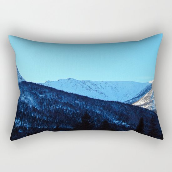 White Peaks Rectangular Pillow