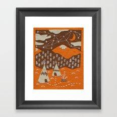 Orange mountain county Framed Art Print