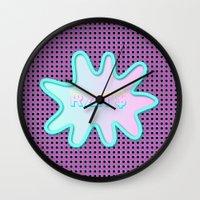 rat Wall Clocks featuring RAT$ by Peta Herbert