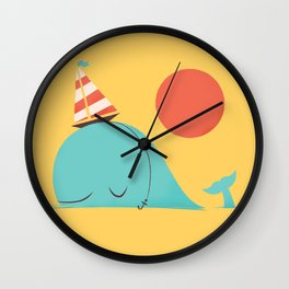 Party Hat Wall Clock