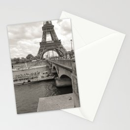 Eiffel Tower Black and white Stationery Cards