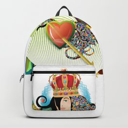 Queen of Hearts Twin Sister Backpack