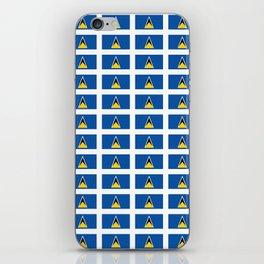 Sainte lucieFlag of Saint Lucia-Saint Lucia,Sainte Lucie,Saint Lucian,Lucien,Castries. iPhone Skin