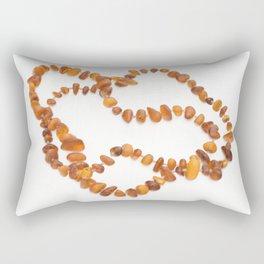 beads with amber Rectangular Pillow