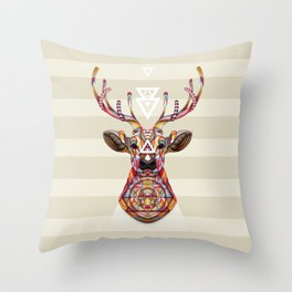 """OH Deer"" by Giulio Rossi Throw Pillow"
