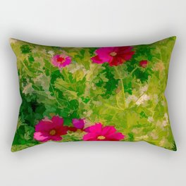 Floral Meanderings Rectangular Pillow