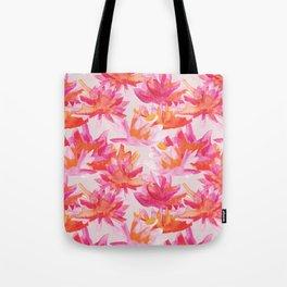 Waterlilies watercolor pattern Tote Bag