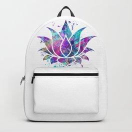 Lotus Flower Watercolor Print Wall Art Wedding Gift Zen decor Backpack