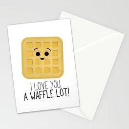 I Love You A Waffle Lot! Stationery Cards