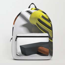 Hammer and screwdriver - 3D rendering Backpack