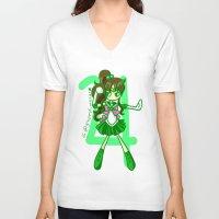 sailor jupiter V-neck T-shirts featuring Sailor Jupiter by Glopesfirestar