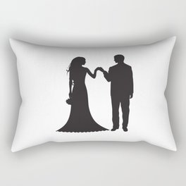 Bride And Groome PNG Rectangular Pillow