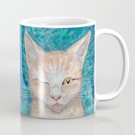 """;P ~ """"Seb the Groovy Cat"""" by Amber Marine ~ Watercolor & Acrylic Painting, (Copyright 2016) Coffee Mug"""